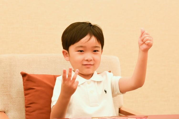 中村梅枝さん長男 大晴くんインタビュー写真