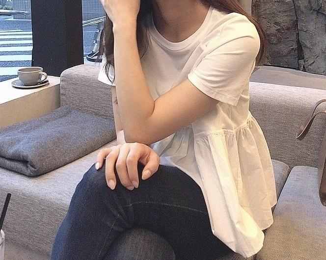 【ZARA】この夏着たい!ペプラムTシャツ_1