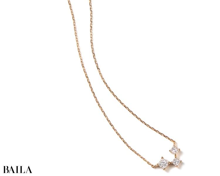 ネックレス(K18YG×DIA 0.17ct)¥98000/アーカー ギンザシックス店(アーカー)
