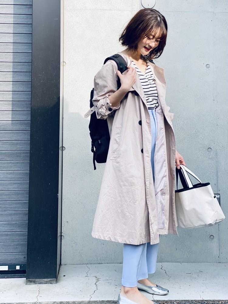 【UNIQLO】¥390きれい色パンツで春コーデ_11