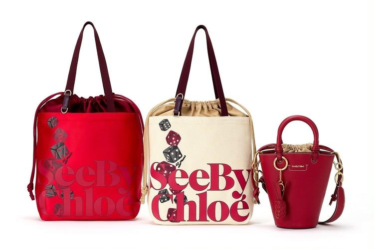 シーバイクロエ ダイスモチーフ カプセルコレクションのバッグ