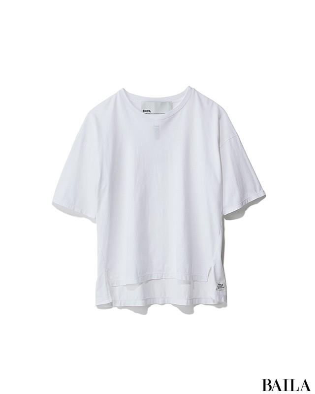 忙しい日は、ミニマルな白コーデに今っぽいシャツワンピをはおって!【2019/4/18のコーデ】_2_1