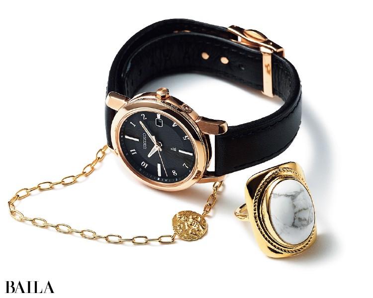 セイコー ルキアの時計、マリハのリングとブレスレット