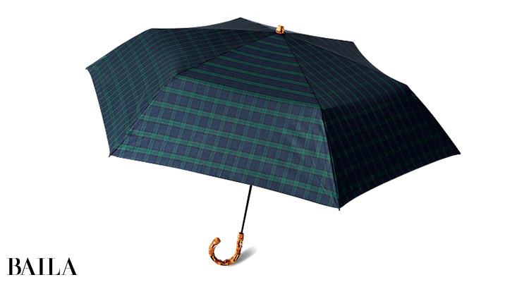 トラディショナル ウェザーウェアのチェック柄折りたたみ傘