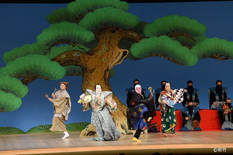 歌舞伎座「壽 初春大歌舞伎」での「悪太郎」の舞台写真