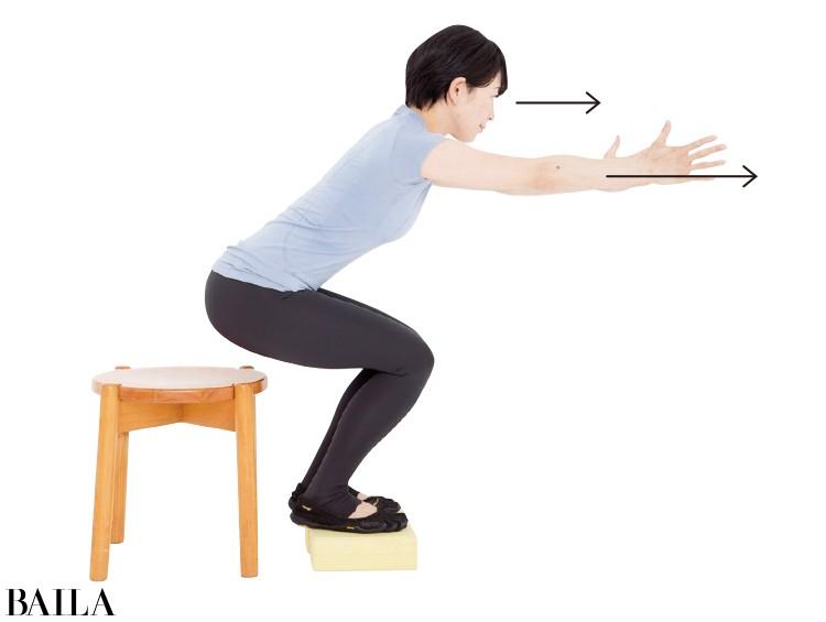 2 足裏でしっかり踏み込み体の前後移動を繰り返す