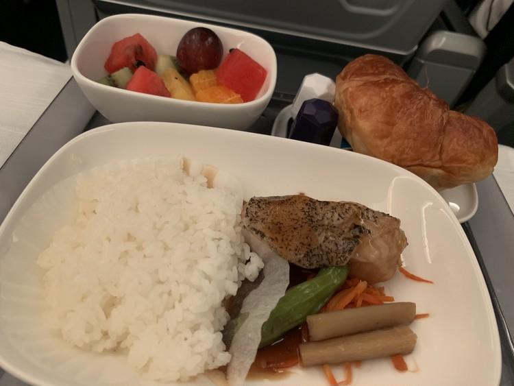 デルタ航空機内食2