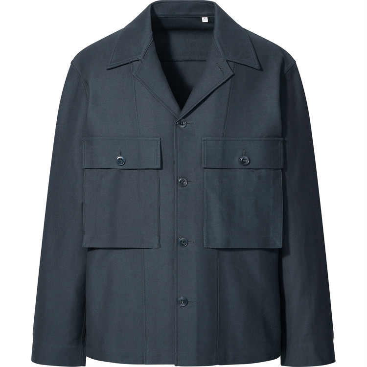 ジャージーシャツジャケット¥5990/ユニクロ(ユニクロ ユー) ※2021年1月下旬発売予定