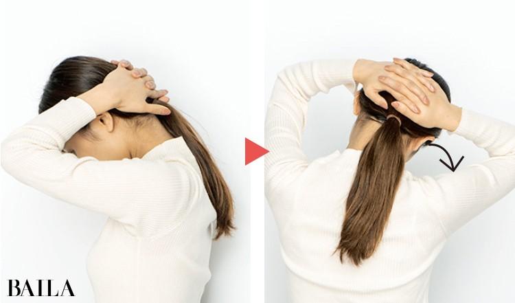 首のコリをよくほぐして血行を改善するのが効果的