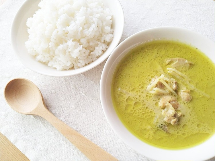 ご飯とグリーンカレー