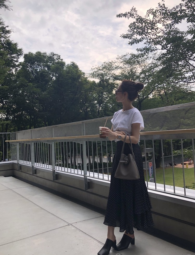 UNIQLO Tシャツで大人フェミニンスタイル♡_7