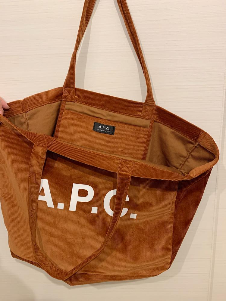 メンズで発見! A.P.C.のトートバッグ。絶妙なオレンジブラウンがお洒落♡_2