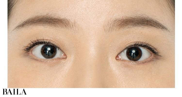 素の目もとは大きいけれど、スッキリした目