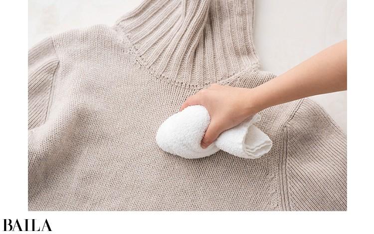 1.すぐにタオルなどに移して水洗い