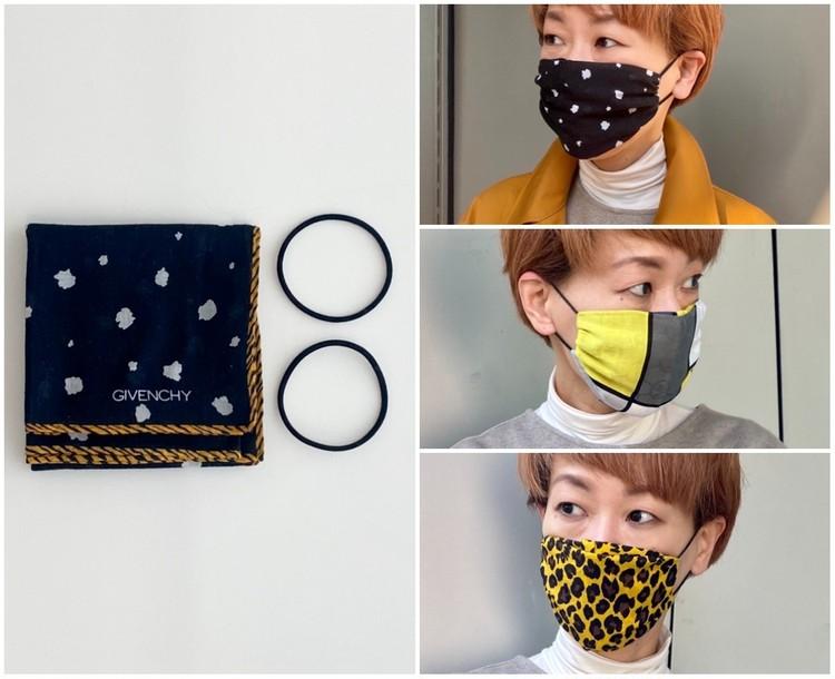 マスク不足に自力で立ち向かう【即席ハンカチマスクの作り方】ヘアゴム使用で縫わずに20秒で完成、意外と快適!_1