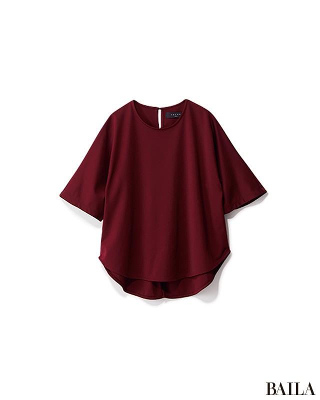 パンツでも色気が欲しいなら、ほんのり女っぽいベルテッドワイドで!_2_2