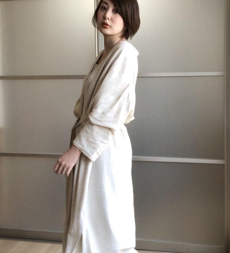 春夏に一枚持っておきたい♡さらりと着れる快適リネン混ガウン_2
