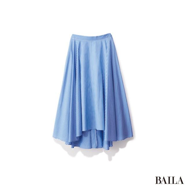 ブルー×ベージュの女らしいスタイルは、デニムでこなれ感を上げて!_2_3