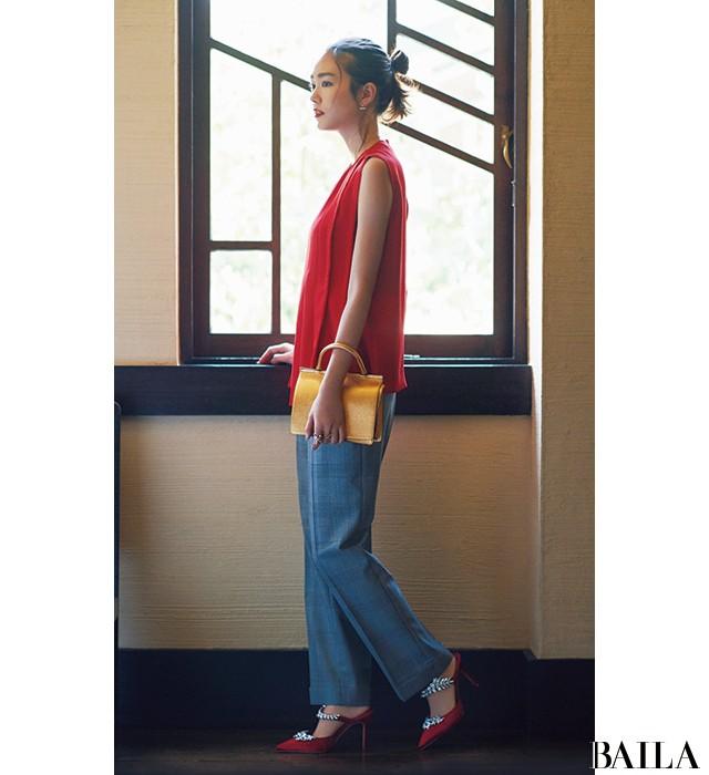 【結婚式やパーティの参考に】桐谷美玲が魅せるメリハリ上手な「ドレスアップ」_2