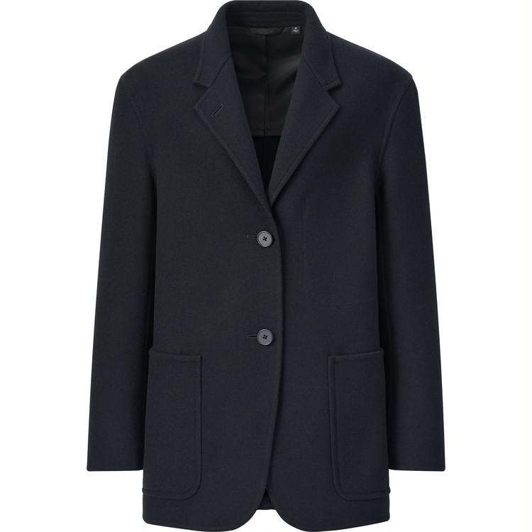 ウールブレンド ジャケット セットアップ可能 ¥9,990