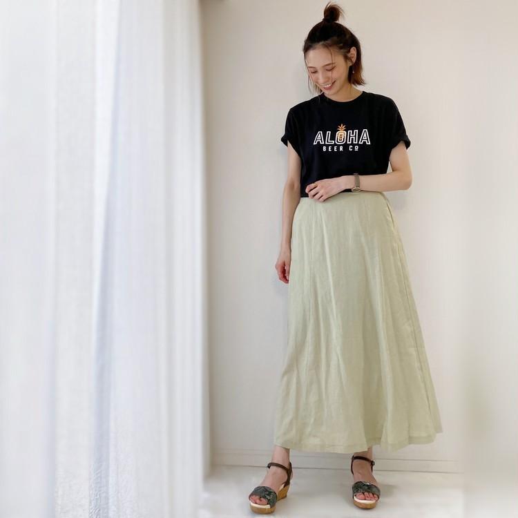 夏の黒TシャツはユニクロUT!ZARAとGUで着回しコーデ!_10