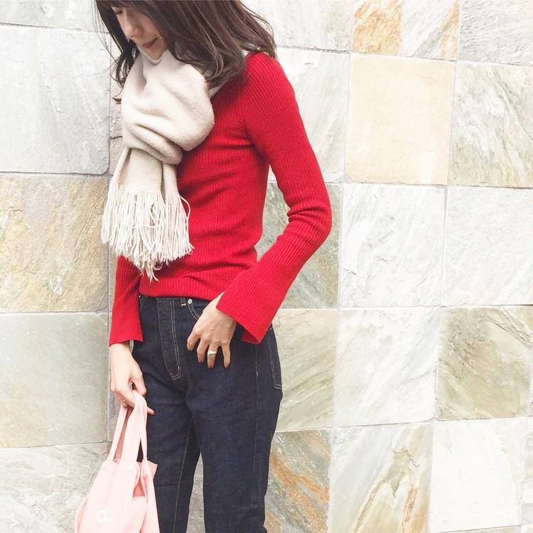 〝赤〟を大人可愛く着るマイルール_1