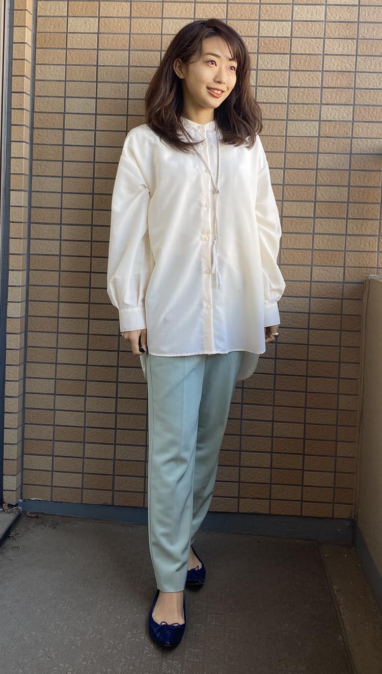 【GU】流行のバンドカラーシャツは低身長でも着こなせる!_4