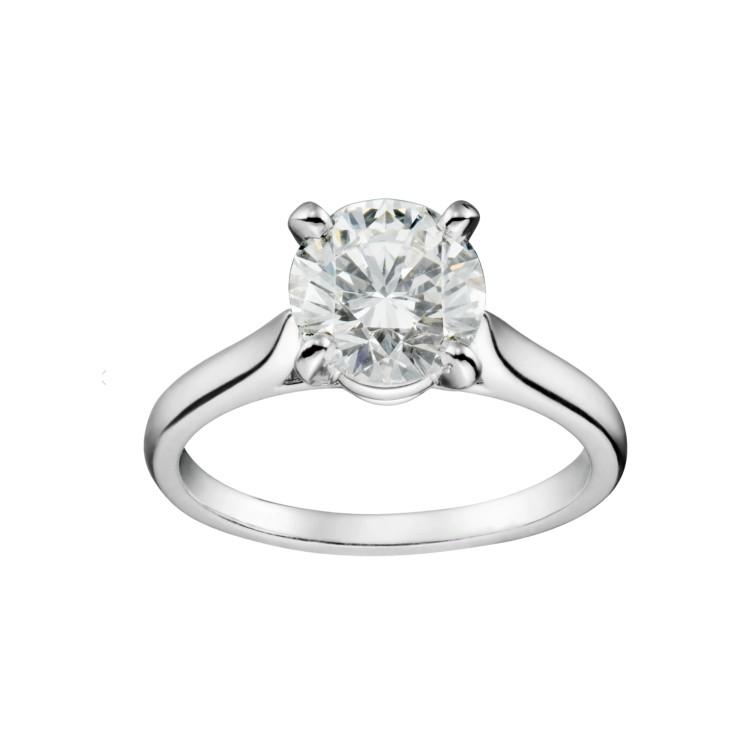 「ソリテール 1895」リング(PT×ダイヤモンド)¥321900/カルティエ