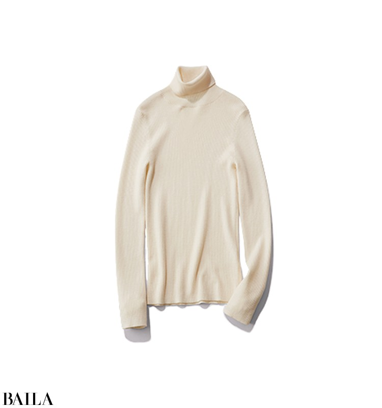 久しぶりに彼氏に会える日は、白ニット×グリーンスカートの女っぽいスタイル【2020/2/10のコーデ】_3_3