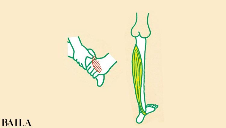 土踏まずをほぐせば脚裏が伸びやすくなる!
