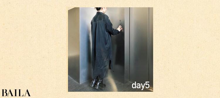 day5  エレベーター待ちしながらカーフ・レイズ。通勤電車の中でも実践。