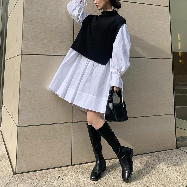 【春の購入品】着映えシャツワンピ_1