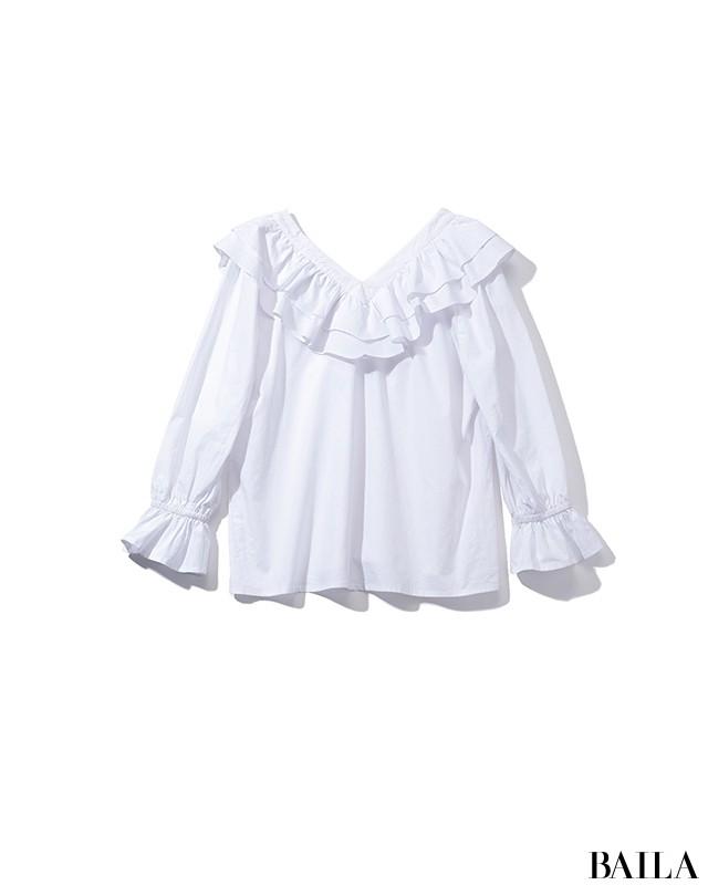 バーでデートの日は、白×ベージュのほの甘マニッシュスタイル♡【2019/3/1のコーデ】_2_1
