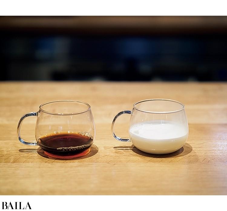 ブラックよりも濃いめのコーヒー(8gの粉に対し100㎖の湯を注ぐ)で淹れるのがコツ。