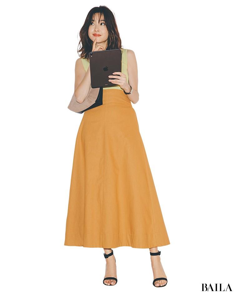 美スタイル見えするチアフルカラースタイルで気分を上げて♡【2019/8/29のコーデ】_1