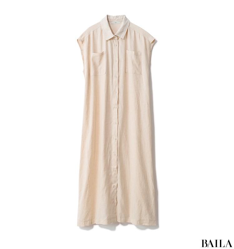 彼とレストランデートの日は、きれいめシャツワンピから女っぽいプリーツスカートをちら見せ♡【2019/9/7のコーデ】_2_2