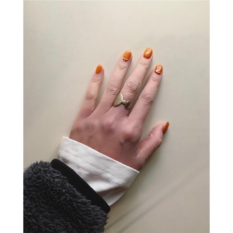マイベーシックネイル・透け感オレンジ_1