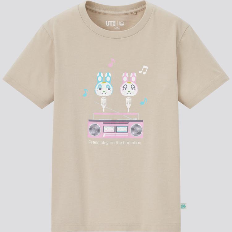 KIDS あつまれ どうぶつの森 UT グラフィックTシャツ(半袖) ベージュ