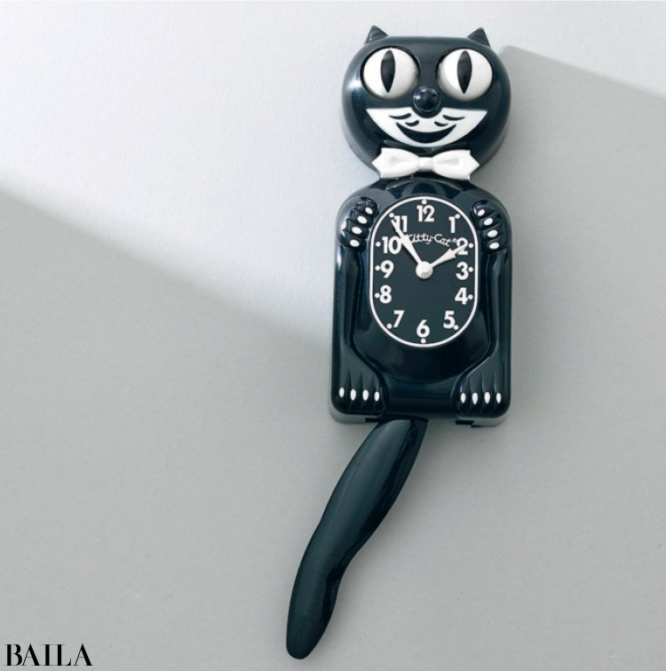 ウォールクロックミニブラック¥7000/MoMAデザインストア(キットキャット)