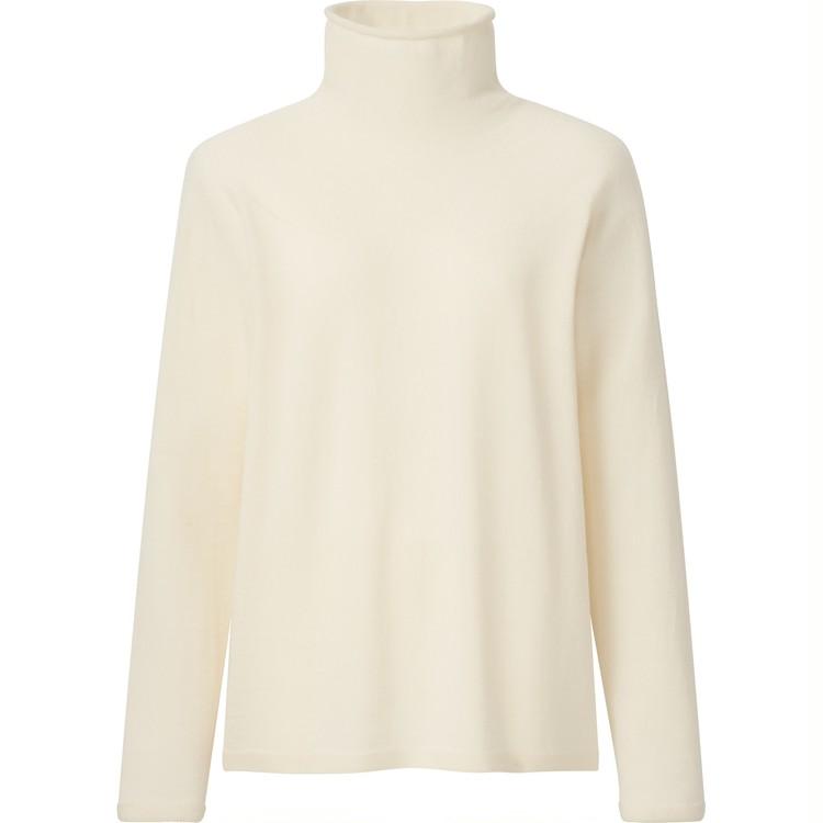 3Dエクストラファインメリノタートルネックセーター(長袖)¥4990