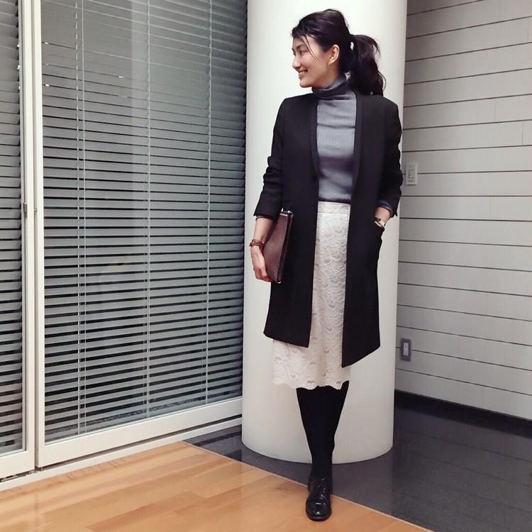 【#OOTD】おしゃれライター坪田さん、女らしさ三倍増しのレーススカート_1