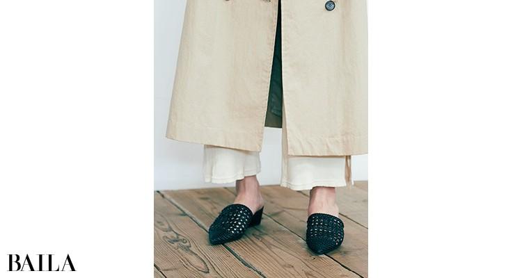 ①アウターやスカートなど旬な丈感はキープ