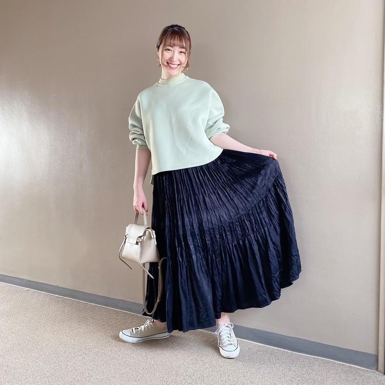 【ユニクロ秋冬】秋口まで使える◎新作プリーツスカートを着回し!_3