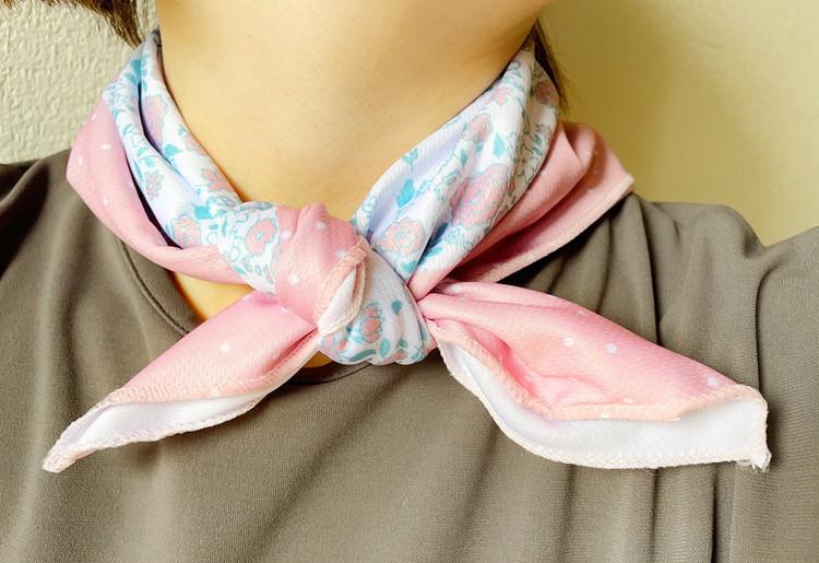 ひんやりクールスカーフの使用例