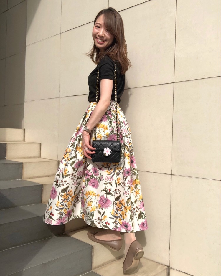 ネットでポチった【あがる⤴花柄スカート】をはいて久々の外出!_2