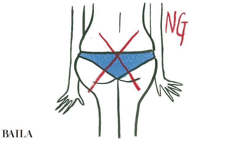 下着はTバックやハイレグ、もしくはお尻全体をすっぽり包み込む形を