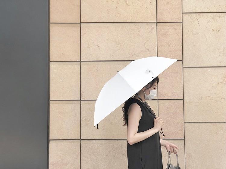 サンバリア100日傘三段折ホワイト