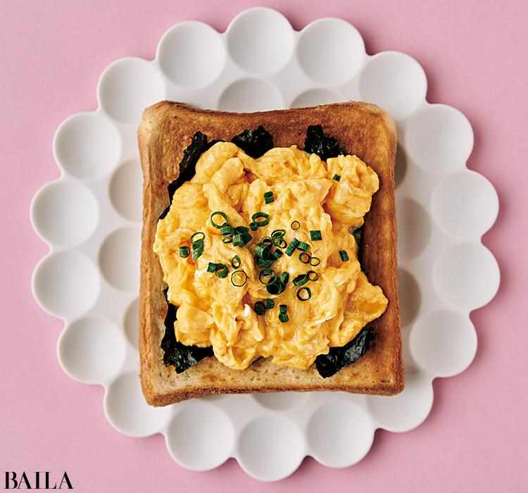 和風のり卵バタートースト