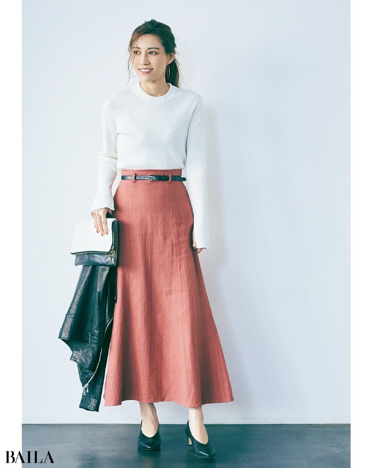 長め丈スカート