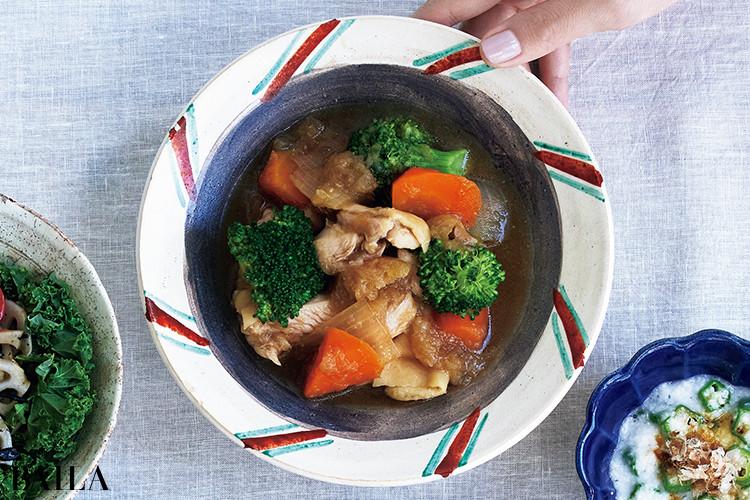鶏肉とブロッコリーのおろし煮